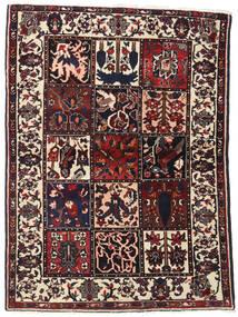 バクティアリ 絨毯 110X151 オリエンタル 手織り 濃い茶色 (ウール, ペルシャ/イラン)