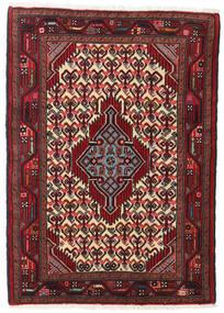 ハマダン 絨毯 82X119 オリエンタル 手織り 深紅色の/濃い茶色 (ウール, ペルシャ/イラン)