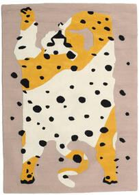 The Spotty Cat - ベージュ/Multi 絨毯 160X230 モダン ベージュ/薄茶色 (ウール, インド)
