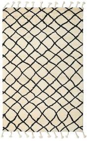 Atlas Berber 絨毯 275X370 モダン 手織り ベージュ/黒 大きな (ウール, インド)