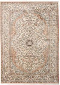 カシミール ピュア シルク 絨毯 173X243 オリエンタル 手織り 薄い灰色/ベージュ (絹, インド)