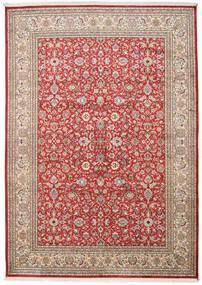 カシミール ピュア シルク 絨毯 170X241 オリエンタル 手織り 錆色/薄茶色 (絹, インド)