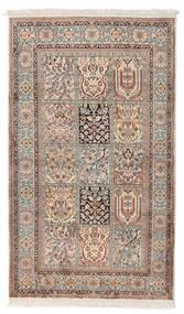 カシミール ピュア シルク 絨毯 92X156 オリエンタル 手織り 薄い灰色/ホワイト/クリーム色 (絹, インド)