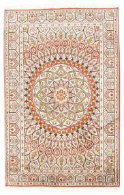 カシミール ピュア シルク 絨毯 80X124 オリエンタル 手織り ベージュ/薄い灰色 (絹, インド)