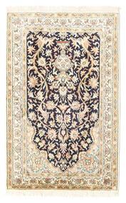 カシミール ピュア シルク 絨毯 65X101 オリエンタル 手織り ベージュ/薄い灰色 (絹, インド)