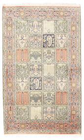 カシミール ピュア シルク 絨毯 94X154 オリエンタル 手織り 薄い灰色/ベージュ (絹, インド)
