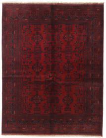 アフガン Khal Mohammadi 絨毯 152X194 オリエンタル 手織り 深紅色の/濃い茶色 (ウール, アフガニスタン)