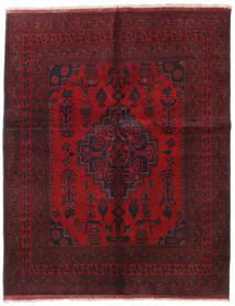 アフガン Khal Mohammadi 絨毯 155X194 オリエンタル 手織り 深紅色の/赤 (ウール, アフガニスタン)
