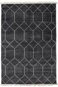 Kiara - Dark_Navy 絨毯 250X300 モダン 手織り 黒/濃いグレー 大きな ( インド)