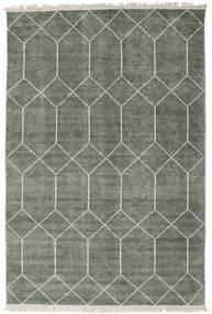 Kiara - フォレストグリーン 絨毯 140X200 モダン 手織り 薄い灰色/濃いグレー ( インド)