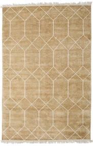 Kiara - ゴールド 絨毯 140X200 モダン 手織り 暗めのベージュ色の/薄茶色 ( インド)