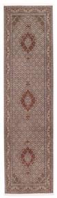タブリーズ 50 Raj Sherkat Farsh 絨毯 80X300 オリエンタル 手織り 廊下 カーペット 深紅色の/薄い灰色 (ウール/絹, ペルシャ/イラン)
