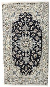 ナイン 絨毯 118X210 オリエンタル 手織り 薄い灰色/濃いグレー (ウール, ペルシャ/イラン)