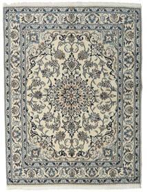 ナイン 絨毯 160X215 オリエンタル 手織り 薄い灰色/濃いグレー (ウール, ペルシャ/イラン)