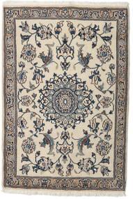 ナイン 絨毯 91X134 オリエンタル 手織り 薄い灰色/ベージュ (ウール, ペルシャ/イラン)