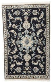 ナイン 絨毯 86X140 オリエンタル 手織り 濃いグレー/薄い灰色 (ウール, ペルシャ/イラン)
