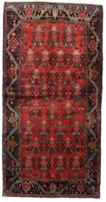 ハマダン 絨毯 125X245 オリエンタル 手織り 深紅色の/濃い茶色 (ウール, ペルシャ/イラン)