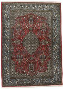 クム Kork/シルク 絨毯 113X154 オリエンタル 手織り 濃いグレー/黒 (ウール/絹, ペルシャ/イラン)