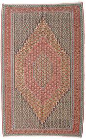 キリム センネ 絨毯 152X245 オリエンタル 手織り 薄い灰色/深紅色の (ウール, ペルシャ/イラン)