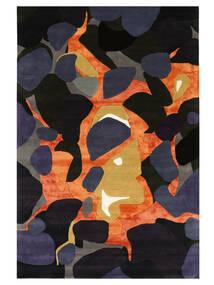 チャコール - グレー/Multi 絨毯 200X300 モダン 濃い紫/紺色の ( インド)
