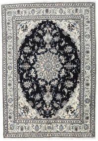 ナイン 絨毯 164X236 オリエンタル 手織り 薄い灰色/黒 (ウール, ペルシャ/イラン)