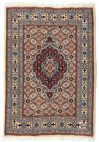 ムード 絨毯 62X89 オリエンタル 手織り 濃い茶色/薄い灰色 (ウール/絹, ペルシャ/イラン)