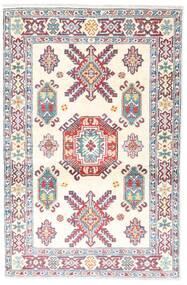 カザック 絨毯 95X146 オリエンタル 手織り ベージュ/薄い灰色 (ウール, アフガニスタン)