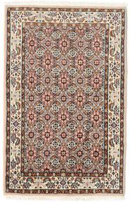 ムード 絨毯 57X90 オリエンタル 手織り 濃い茶色/薄茶色 (ウール/絹, ペルシャ/イラン)