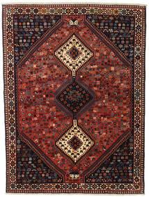 ヤラメー 絨毯 155X201 オリエンタル 手織り 深紅色の/黒 (ウール, ペルシャ/イラン)
