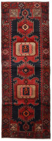 ハマダン 絨毯 104X295 オリエンタル 手織り 廊下 カーペット 深紅色の (ウール, ペルシャ/イラン)