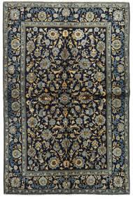 カシャン 絨毯 134X205 オリエンタル 手織り 紺色の/濃いグレー (ウール, ペルシャ/イラン)