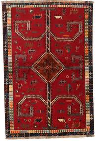 カシュガイ 絨毯 147X222 オリエンタル 手織り 赤/深紅色の (ウール, ペルシャ/イラン)