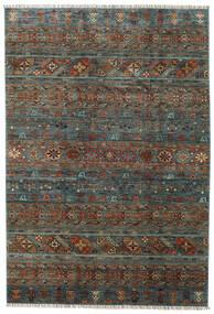 Shabargan 絨毯 203X297 モダン 手織り 濃いグレー/濃い茶色 (ウール, アフガニスタン)