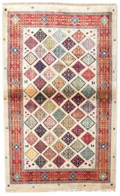 カシミール Art. シルク 絨毯 102X164 オリエンタル 手織り ベージュ/薄い灰色 ( インド)