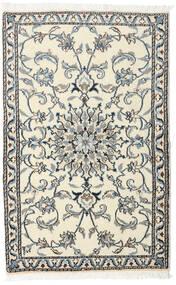 ナイン 絨毯 88X140 オリエンタル 手織り ベージュ/濃いグレー (ウール, ペルシャ/イラン)