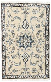 ナイン 絨毯 85X138 オリエンタル 手織り ベージュ/濃いグレー (ウール, ペルシャ/イラン)