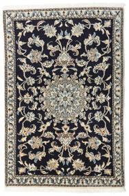 ナイン 絨毯 90X135 オリエンタル 手織り 紺色の/薄い灰色/濃いグレー (ウール, ペルシャ/イラン)