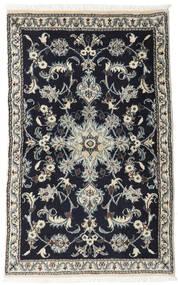 ナイン 絨毯 86X133 オリエンタル 手織り 黒/薄い灰色 (ウール, ペルシャ/イラン)
