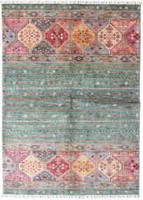 Shabargan 絨毯 148X209 モダン 手織り 濃いグレー/ライトピンク (ウール, アフガニスタン)