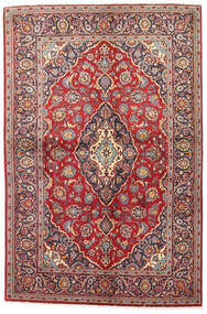 カシャン 絨毯 141X215 オリエンタル 手織り 深紅色の/茶 (ウール, ペルシャ/イラン)