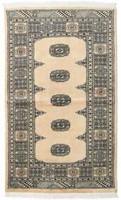 パキスタン ブハラ 2Ply 絨毯 93X156 オリエンタル 手織り ベージュ/黒 (ウール, パキスタン)
