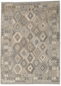 キリム アフガン オールド スタイル 絨毯 183X250 オリエンタル 手織り 薄い灰色 (ウール, アフガニスタン)