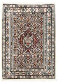 ムード 絨毯 60X85 オリエンタル 手織り ベージュ/薄い灰色/濃い茶色 (ウール/絹, ペルシャ/イラン)