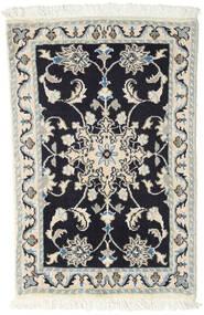 ナイン 絨毯 60X90 オリエンタル 手織り 濃いグレー/薄い灰色/ベージュ (ウール, ペルシャ/イラン)