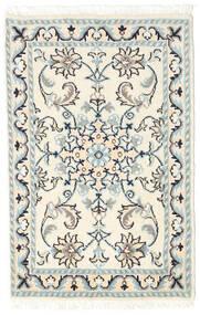 ナイン 絨毯 60X90 オリエンタル 手織り ベージュ/薄い灰色 (ウール, ペルシャ/イラン)