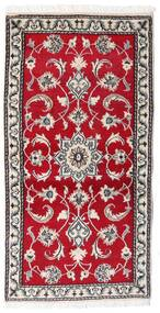 ナイン 絨毯 70X139 オリエンタル 手織り 赤/薄い灰色 (ウール, ペルシャ/イラン)