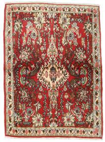 センネ 絨毯 107X150 オリエンタル 手織り 濃い茶色/錆色 (ウール, ペルシャ/イラン)