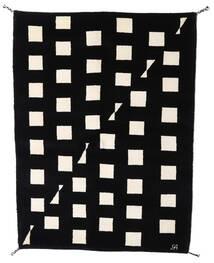 ギャッベ インド 絨毯 144X198 モダン 手織り 黒/ベージュ (ウール, インド)
