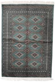パキスタン ブハラ 2Ply 絨毯 140X204 オリエンタル 手織り 濃いグレー/深緑色の (ウール, パキスタン)