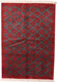 Himalaya 絨毯 144X206 モダン 手織り 深紅色の/黒 (ウール, インド)